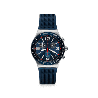 Swatch Armbanduhr - Irony Blue Grid