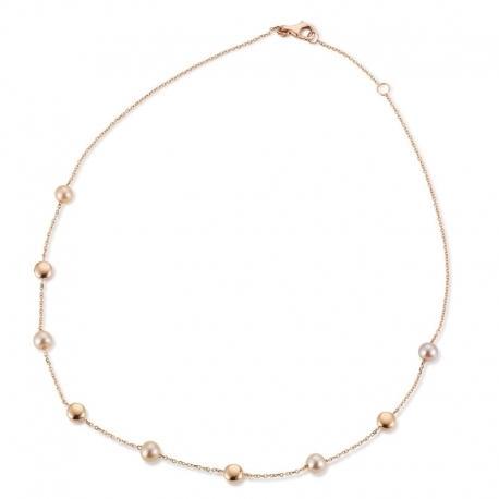 Palido - Halskette Rotgold 585 mit Süßwasserperlen