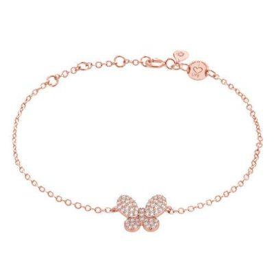 "LaViida - ""Schmetterling"" Armband Silber rosévergoldet"