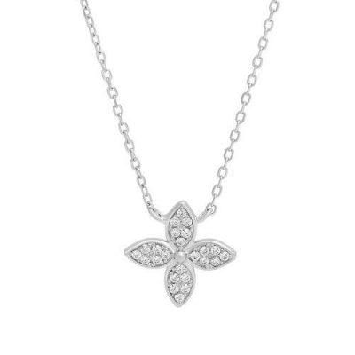 """LaViida - """"Blume"""" Halskette Silber"""