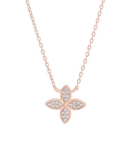 """LaViida - """"Blume"""" Halskette Silber rosévergoldet"""