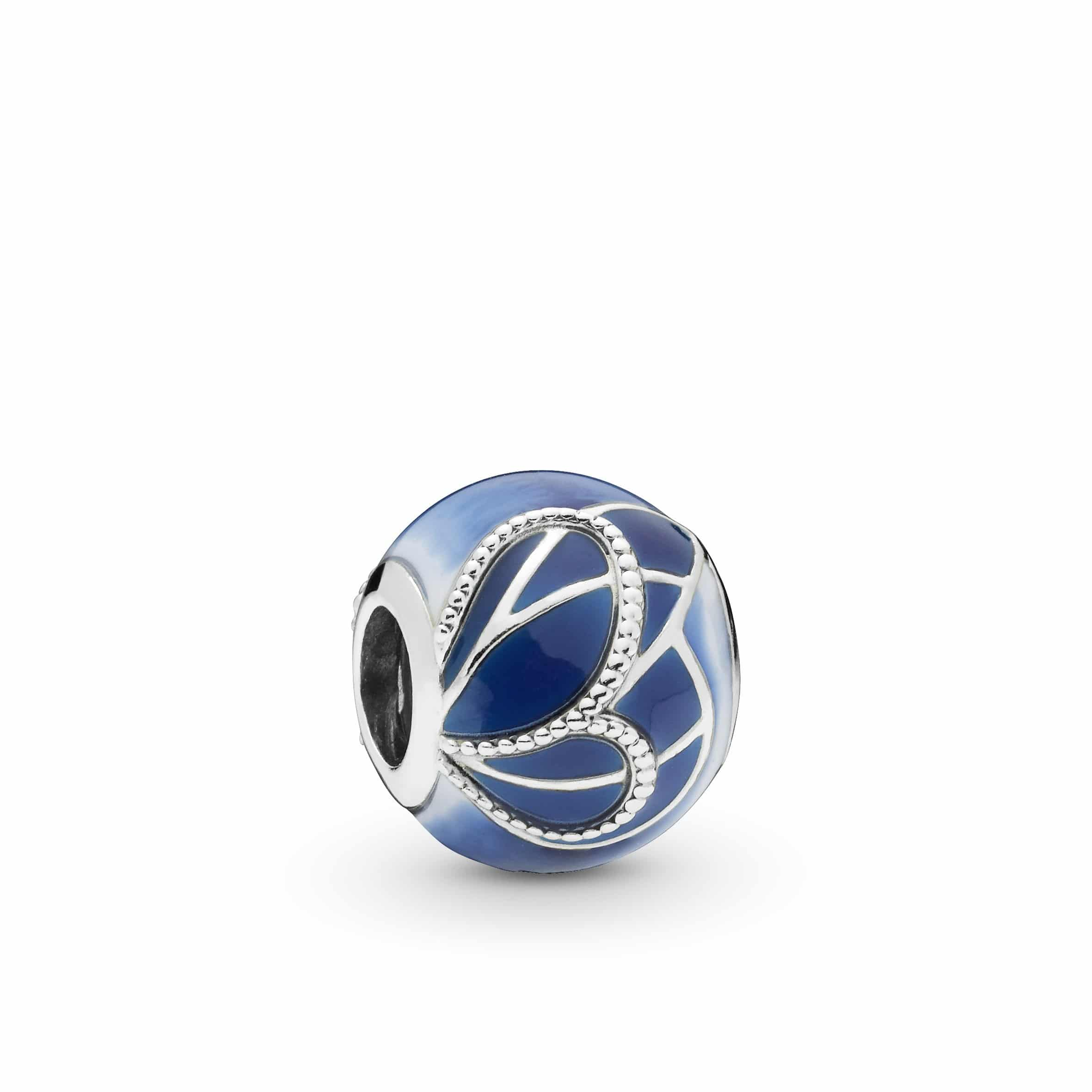 """Pandora - """"Blue Butterfly Wing"""" Charm"""